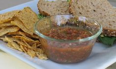 Homemade salsa using canned tomatoes (from my blog).