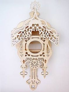 Cuckoo clock of plywood - Laser cutting, Laser engraving, Laser marking