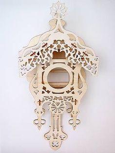 Cuckoo clock of plywood - Laser cutting, Laser engraving, Laser marking