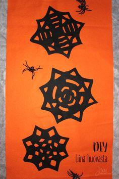 Suvikukkasia: Iisipiisi halloweeni! #felt #DIY #halloween #black #orange