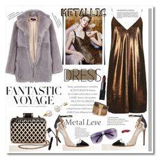 """Heavy Metal: Metallic Dresses"" by cindy88 ❤ liked on Polyvore featuring Topshop, TIBI, Tevolio, H&M, Lancôme, MICHAEL Michael Kors, Isabel Marant, NARS Cosmetics and metallicdress"