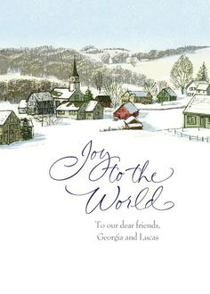 Joyful Wonderland - Christmas Greeting Cards in White | Hallmark Personalized Christmas cards from Treat.com