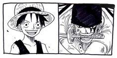 Monkey D Luffy Roronoa Zoro Straw Hat Crew Pirates Mugiwaras One Piece