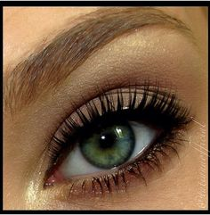 Green eyes makeup idea