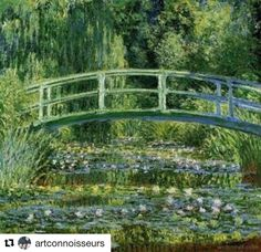 In 1889 Monet painted a bridge that went over the Water Lily pond in his garden in Giverny. Throughout 1889 and Monet painted several canvases depicting the bridge. Monet Paintings, Impressionist Paintings, Landscape Paintings, Cat Paintings, Paintings Famous, Classic Paintings, Impressionism Art, Portrait Paintings, Landscape Pictures