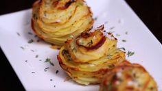 Med bara potatis, ost och kryddor gör du lätt de här helt oemotståndliga potatisrosorna!