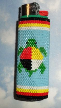 Items similar to Medicine Turtle Beaded Lighter Case on Etsy Native Beading Patterns, Beadwork Designs, Native Beadwork, Seed Bead Patterns, Native American Beadwork, Jewelry Patterns, Bracelet Patterns, Lighter Case, Bic Lighter