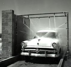 vintage 1950s car wash this is a great shot i wish i could recreate something like
