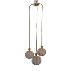 <ul><li>Drop: 100cm approx.</li><li>Pineapple drop lights</li><li>Vintage</li><li>Beads and brass</li></ul>