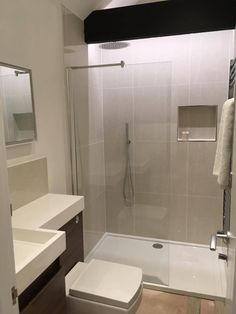 Make the most of the space you have in your small bathroom by combining a combination toilet and basin unit with a walk-in shower enclosure. Toilet In Shower Combination Bathroom Layout, Bathroom Interior, Modern Bathroom, Bathroom Ideas, Downstairs Bathroom, Bathroom Inspo, Bathroom Cabinets, Bathroom Vanities, Bathroom Canvas