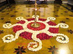 #pookolam Rangoli Designs Flower, Rangoli Ideas, Rangoli Designs Diwali, Diwali Rangoli, Flower Rangoli, Beautiful Rangoli Designs, Diwali Diy, Flower Designs, Kolam Designs