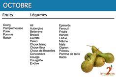 Les fruits et légumes du mois d'octobre à découvrir avec Terre2sens.
