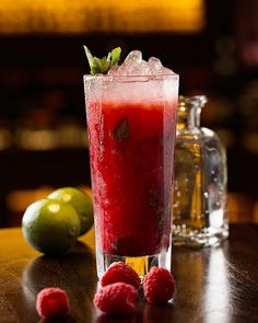 Roses & Raspberries. A beautiful mojito style combination of fresh mint, raspberries and rose water.