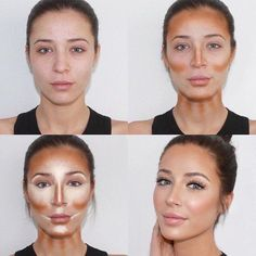 17 Ideas makeup tips contouring make up Makeup Contouring, Skin Makeup, Oval Face Makeup, Contouring Tutorial, How To Face Makeup, Body Makeup, Strobing, Makeup Brush, Makeup Remover