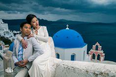 Wedding Photographer in Santorini / Oia for Chinese Couple - Aeginaphotographer Santorini Wedding, Greece Wedding, Wedding Season, Wedding Day, Pre Wedding Photoshoot, Santorini Greece, Great View, Portrait Photographers