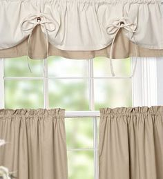 Versa-Tie Valance And Tiers, would like this color combo but not avalible. #curtain #cortina