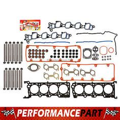 "head gasket bolts set 02 04 lincoln mercury ford v8 46 sohc 16v vin w x - Categoria: Avisos Clasificados Gratis  Item Condition: NewPackage includes:AaA Multilayered steel MLS head gasketAaA Intake manifold gasketAaA Exhaust manifold gasketAaA Valve cover gasketAaA Viton ""valve stem sealsAaA Camshaft sealAaA OringsAaA Other small gasketsAaA Gasket silicone sealantAaA 20 Head boltsPart Fitments:03 FORD CROWN VICTORIA 46L 281CID V8 CNG SOHC 16V VIN ""W, X""03 FORD CROWN VICTORIA 46L 281CID V8…"