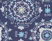 Dream Rigt-Navy-Tea Garden - Dena Designs - Free Spirit-1 Yard