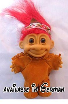 6 Toy Russ Troll Dolls  Davey Crocket Native American Train Engineer  New 5 inch