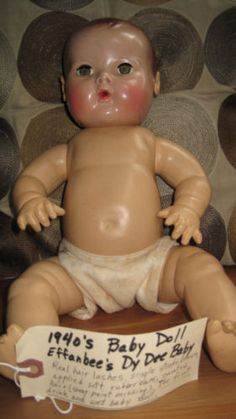 "Vintage 1940's Effanbee's Dy Dee Baby Doll 15"""