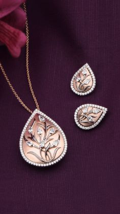 Diamonds adorn a multitude of gold layers are crafted into an exquisite pendant.