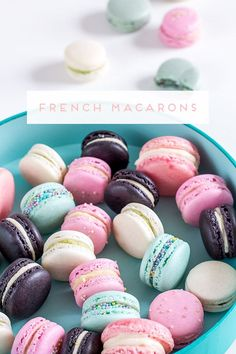Instructions for Macarons + template for printing - Backen - cupcakes Desserts Français, French Desserts, French Food, Dessert Recipes, French Recipes, Macaron Cookies, Cake Cookies, Sweets Cake, Cupcake Cakes