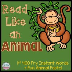 Looking for a fun way to build fluency? This engaging powerpoint will have your students laughing and learning as they read sight words and pretend to be a variety of different animals! Included in this product are the first 400 Fry Instant Words and interesting facts about 26 different animals.
