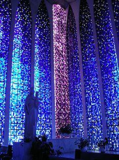 Photo of a Church in Brasilia, Distrito Federal, BR. By Graça Vargas Igreja Dom Bosco ♦ Brasilia, Brazil | by Graca Vargas