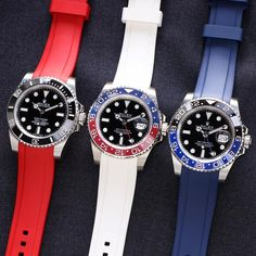Countless combinations of Swiss made rubber straps for your Rolex
