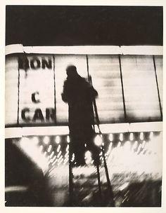 William Klein, New York, 1954 via Metropolitan Museum French Photographers, Street Photographers, Nocturne, William Klein, Shadow Photos, Lomography, Photo Essay, After Dark, Photojournalism