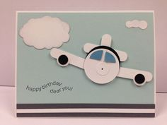 "Airplane Punch Art Stampin Up ""Birthday"" Card Kit (5 cards) Another darling eBay find!"
