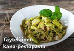 Täyteläinen kana-pestopasta Resepti: Kariniemen #kauppahalli24 #ruoka #resepti #pesto