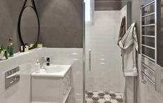 интерьер ванной комнаты, дизайн ванной комнаты, ванная интерьер, ванная комната в проекте дома, проект ванной комнаты, современный стиль в интерьере ванной, серый цвет в ванной, серо-белый интерьер ванной, плитка в виде сот в интерьере, bathroom interior, bathroom design, bathroom interior, bathroom in home project, bathroom project, modern style in bathroom interior, gray color in bathroom, gray-white bathroom interior, honeycomb tiles in interior Studio House, Corner Bathtub, Alcove, Bathroom, Washroom, Corner Tub, Bathrooms, Bath
