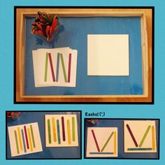 """Craft sticks used with pattern cards from the connection we share, shared by Rachel ("""",)"""