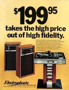 "Throwback Thursdays: 1974 ""Electrophonic"" Hi-Fi"