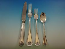 Laura by Buccellati Italy Sterling Silver Flatware Set Dinner Service 24 pieces
