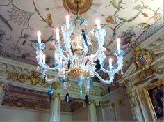 Wilton House chandelier of Murano glass