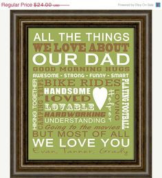CYBER WEEKEND SALE Gifts for Dad  Christmas by iNKYSQUIDSTUDIO