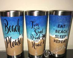 Beach please tumbler   Etsy