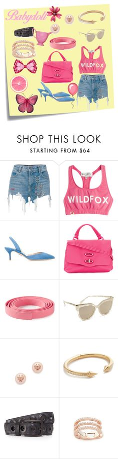 """Pink girl..."" by jamuna-kaalla ❤ liked on Polyvore featuring Post-It, Alexander Wang, Wildfox, Paul Andrew, Zanellato, Ermanno Scervino, MCM, Tory Burch, Vita Fede and B. Belt"