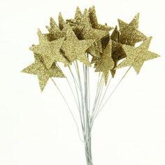 Gold glittered stars