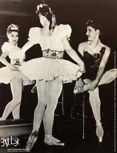 "San Francisco Ballet /ballerinas Rudy Asquith and Onna White backstage in ""Coppèlia"" 1942"