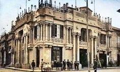 Il Cine-teatro Trinacria all'incrocio tra Via Maddalena e Via Giordano Bruno a Messina in una immagine del 1937
