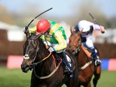 Sizing Granite and Johnny Burke winning at Aintree.
