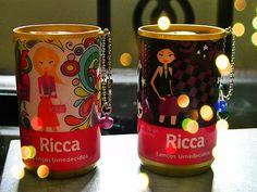 Lenços Umedecidos Ricca, apenas R$ 5,50 na LPC! Acesse: www.loucasporcosmeticos.com.br