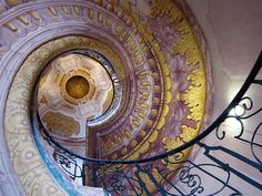 Spiral staircase in the Benedictine Abbey of Melk, Austria by rotraud_71 away for a while ~~~, via Flickr