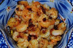 Mrs Happy Homemaker: Easy Shrimp Scampi(ish) { Mrs Happy Homemaker }  Sounds great.  Russ won't eat it though.  Mrs. Happy Homemaker has the very same blue Temptations bakeware that I have.  Love it! - MM