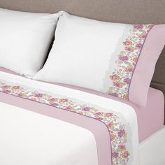 Sábanas Cotone 623 Manterol | Envío Gratis | Donurmy Bed Covers, Pillow Covers, Linen Bedding, Bedding Sets, Folding Fitted Sheets, Designer Bed Sheets, Pillowcase Pattern, Doll Beds, Everything Pink