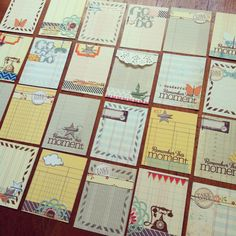 Journaling cards -inspiration for making own