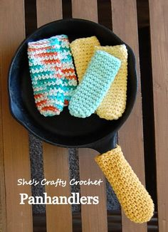 Don't burn those digits! - Panhandlers - free crochet pattern by She's Crafty Crochet.